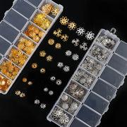 1ケース 花座セット ビーズデコに 透かしフラワー 選べる2色 アレンジ 台座 金具 デコパーツ 質材 手芸