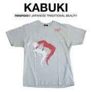 和柄 ユニセックス 歌舞伎コラボTシャツ 「連獅子ヘッド」
