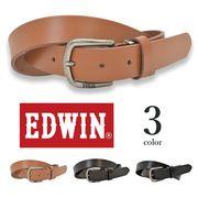 【全3色】 EDWIN エドウイン プレーンレザー ベルト リアルレザー メンズ レディース 男女兼用 エドウィン