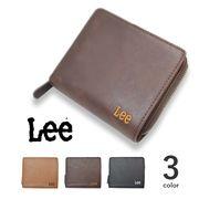 【全3色】 Lee リー ショートウォレットファスナー付き 二つ折り 財布