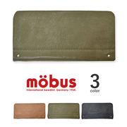 【全3色】 mobus モーブス ラウンドファスナー ウォレット 長財布 リアルレザー