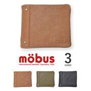 【全3色】 mobus モーブス リアルレザー ウォレット 中ベラ付き 二つ折り財布