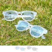 【2019春夏新作】クリアフレーム ウェリントン サングラス / 眼鏡 めがね メガネ UV メンズ レディース