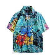 新作 開襟 カジュアル 花柄 メンズ シャツ  半袖 アメカジ アロハシャツ 上着 速乾Tシャツ