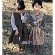 ★新作アパレル★子供 キッズ服★INS 麻綿 ワンピース★キッズファッション★ドレス