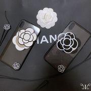 定形外773106】iPhone XS MAX ケース ミラー カメリア ネックレス付 デザイン 純正品質 鏡