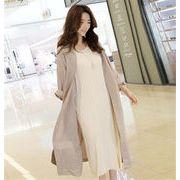 満足度99% 韓国ファッション ラウンドネック 怠惰な風 トレンチコート カジュアル  カーディガン コート