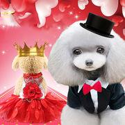 犬服 ペットウェア 全3色 春夏 レーススカート 可愛い ペット雑貨
