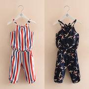 赤ちゃん セット 夏服 新しいデザイン 女児 キッズ洋服 児童 スパゲティトップ パンツ