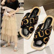 新作シューズ 靴 サンダル ミュール エレガント 英文字 フラット 韓国 ファッション