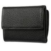 FRUHイタリアンレザー3つ折り財布(コンパクトウォレット)ブラック