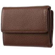 FRUHイタリアンレザー3つ折り財布(コンパクトウォレット)ブラウン