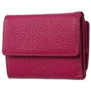 FRUHイタリアンレザー3つ折り財布(コンパクトウォレット)グレープ