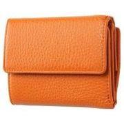 FRUHイタリアンレザー3つ折り財布(コンパクトウォレット)オレンジ
