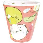 【プラカップ】すみっコぐらし Wプリント メラミンカップ/てづくりぬいぐるみ