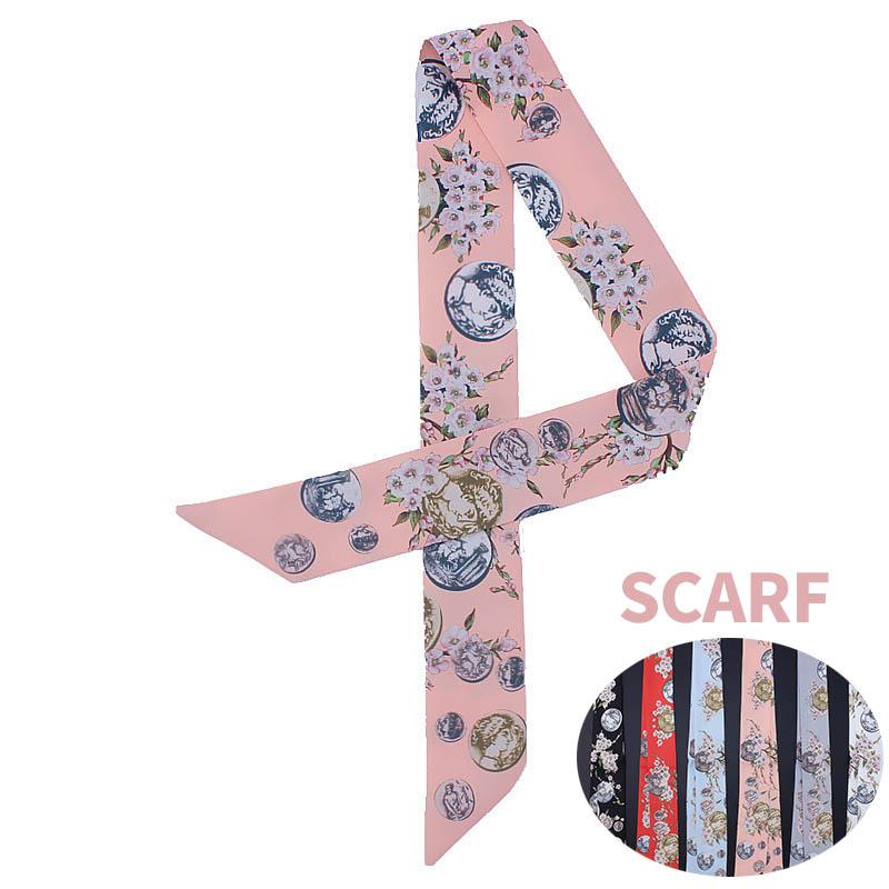 スカーフ 長方形 マフラー バッグに巻いえり巻き アクセサリー雑貨 高級感がアップ バッグ パターン