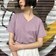 夏5色★最強の新作★韓国ファッション可愛 学生 合わせやすい カジュアル 半袖 Tシャツ 女 ブラウス