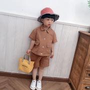 キッズ シャツ トップス スラックス セットアップ 上下2点 SALE 男の子 女の子 韓国子供服