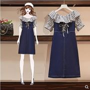 【大きいサイズXL-5XL】ファッション/人気/2枚セットトップス