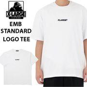 【X-LARGE】(エックスラージ) EMBROIDERY STANDARD LOGO 半袖 Tシャツ