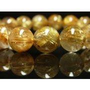 現品一点物 極上タイチンルチルブレスレット 水晶 数珠 12ミリ PTR14 パワーストーン