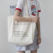 バッグ エコバッグ トートバッグ ハンドバッグ 英字 帆布 ズック 日常 大容量