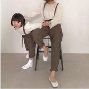 2019秋新作★親子兼用★キッズ男女 カジュアルズボン サロベット★連体服 80cm-130cm