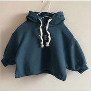 秋 冬 子供Tシャツ キッズ 女の子 男の子 ファッション トップス 無地 カジュアル系 2色