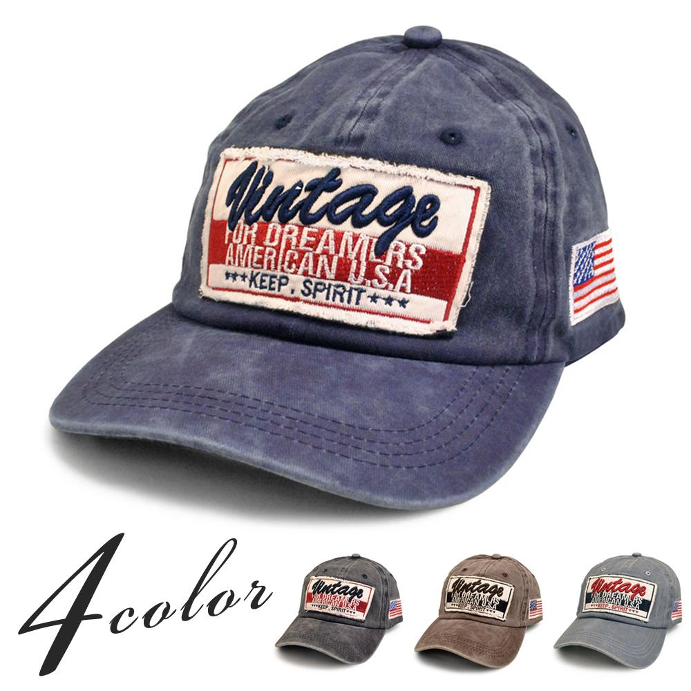 ▼MAGGIO▼【アメカジ好きにおススメ♪】Vintageワッペンダメージキャップ(帽子)