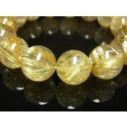 現品一点物 タイチンルチル ブレスレット 極太金針水晶 15-16ミリ 76g PTR25