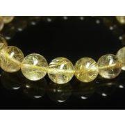 イチオシ 現品一点物 ゴールドルチル ブレスレット 金針水晶数珠 10ミリ 32g PKR3