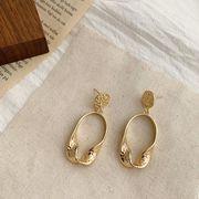 ピアス 幾何 イヤリング 金属 幾何 円型 シンプル デザイン 韓国ファッション