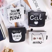 コインケース 小銭入れ 財布 収納ケース 可愛い 猫柄 ポーチ