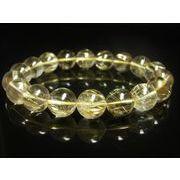 お試し価格 一点物 ゴールドルチル ブレスレット 金針水晶 天然石 数珠 12ミリ R35