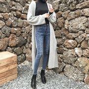 ファッション 韓国風 女性服 着やせ ハイウエスト ストレッチ 着やせ  ペンシルズボン