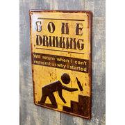 アンティーク メタルプレート(S)★ GONE DRINKING ★