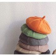子供ベレー帽 帽子 秋冬 ニット帽 ファション 13色 子供ハット 可愛い帽子