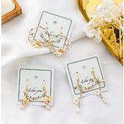 ピアス 木の枝 パール 宮廷風 透かし編み リンク お花 ビンテージ ファッション