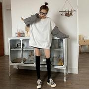 秋 新しいデザイン 韓国風 ルース + グリッド 長袖 セーター ネット レッド レジャ