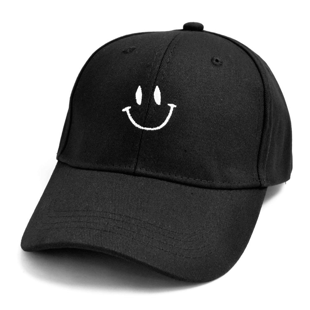 ▼MAGGIO▼【キュートなスマイル】 ニコちゃんマーク刺繍入りキャップ(帽子)