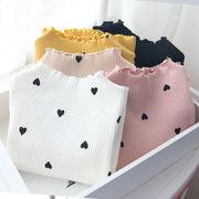 秋 新しいデザイン キッズ洋服 韓国風 女児 ピット 枚 スレッド ラブ 長袖Tシャツ