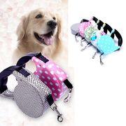 【送料無料】 犬用リード 伸縮リード 自動巻き 牽引ロープ ペット用品 ドッグ 小型犬 中型犬
