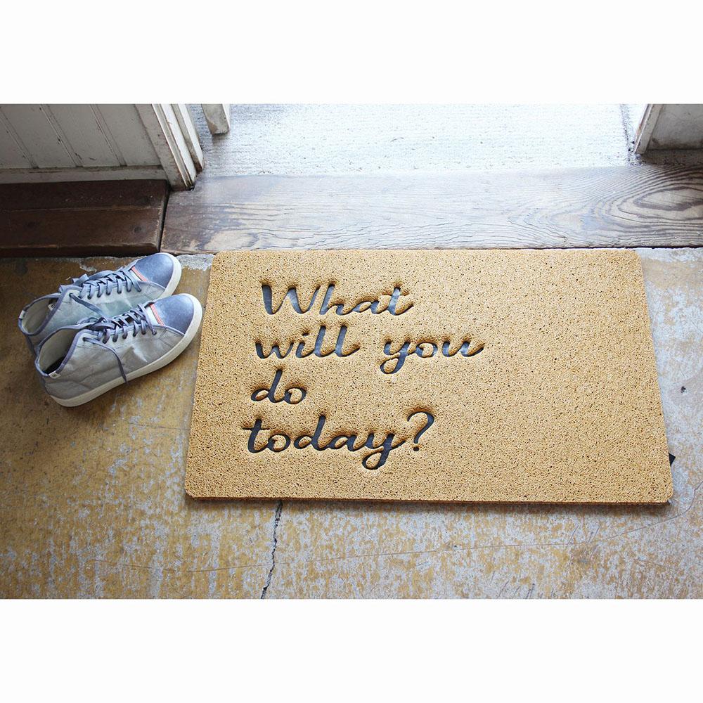ふかふかテラスマット WHAT WILL YOU DO TODAY? Sサイズ