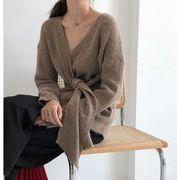 格安!★秋冬新入荷★華やかな印象に トレンド 秋冬物 怠惰な風 ニット カーディガン セーター コート