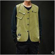 【大きいサイズM-5XL】ファッション/人気タンクトップ♪ブラック/ダークグリーン2色展開◆