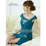 【Belsia】谷間魅せタイトミニドレス 加賀美早紀 着用ドレス【ベルシア】*504382