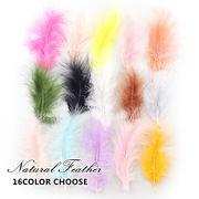 20pcs ふわふわ天然フェザー 七面鳥 豊富16色 鳥の羽根 羽 アクセサリー デコパーツ