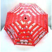 【雨傘】【ジュニア用】55cmツムツムボーダー柄ジャンプ傘