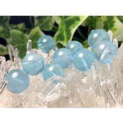 『太陽の石』 天然石ビーズAAAランク  ブルートパーズ 粒売り 6ミリ玉→12ミリ玉