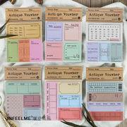 格安☆塩系文具 紙物★付箋◆ポストイット◆伝言メモ◆メモポスト★手帳素材★アンティーク手形
